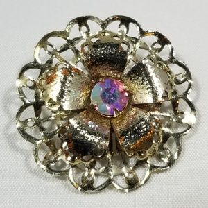 Vintage custom jewelry brooches pin crystals